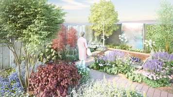 UPM Plywood sponsors a show garden displaying Finnish nature at the RHS Chelsea Flower Show 2019 in London