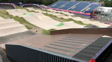 BMX start ramp covered with WISA-Wire